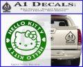Hello Kitty Decal Sticker Intricate Green Vinyl Logo 120x97