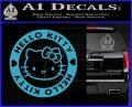 Hello Kitty Decal Sticker Intricate Light Blue Vinyl 120x97