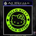 Hello Kitty Decal Sticker Intricate Lime Green Vinyl 120x120