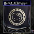 Hello Kitty Decal Sticker Intricate Metallic Silver Emblem 120x120