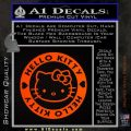 Hello Kitty Decal Sticker Intricate Orange Emblem 120x120