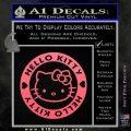 Hello Kitty Decal Sticker Intricate Pink Emblem 120x120