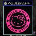 Hello Kitty Decal Sticker Intricate Pink Hot Vinyl 120x120