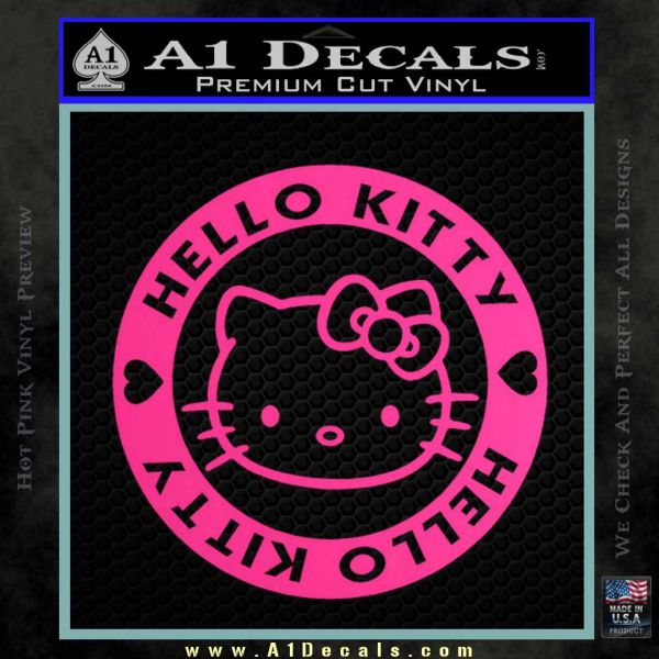 Hello Kitty Decal Sticker Intricate Pink Hot Vinyl