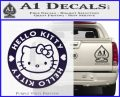Hello Kitty Decal Sticker Intricate PurpleEmblem Logo 120x97
