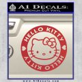 Hello Kitty Decal Sticker Intricate Red 120x120