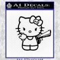 Hello Kitty Finger Gun Decal Sticker Black Vinyl 120x120