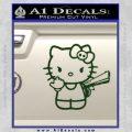 Hello Kitty Finger Gun Decal Sticker Dark Green Vinyl 120x120