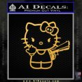 Hello Kitty Finger Gun Decal Sticker Gold Vinyl 120x120