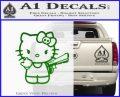 Hello Kitty Finger Gun Decal Sticker Green Vinyl Logo 120x97