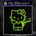 Hello Kitty Finger Gun Decal Sticker Lime Green Vinyl 120x120