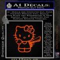 Hello Kitty Finger Gun Decal Sticker Orange Emblem 120x120