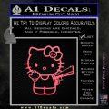 Hello Kitty Finger Gun Decal Sticker Pink Emblem 120x120