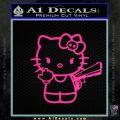 Hello Kitty Finger Gun Decal Sticker Pink Hot Vinyl 120x120