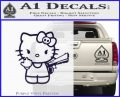 Hello Kitty Finger Gun Decal Sticker PurpleEmblem Logo 120x97