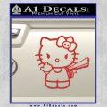 Hello Kitty Finger Gun Decal Sticker Red 120x120