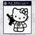 Hello Kitty Glock Gun Decal Sticker Black Vinyl 120x120