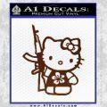 Hello Kitty Hibiscus Gun Decal Sticker BROWN Vinyl 120x120
