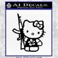 Hello Kitty Hibiscus Gun Decal Sticker Black Vinyl 120x120