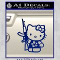 Hello Kitty Hibiscus Gun Decal Sticker Blue Vinyl 120x120