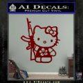 Hello Kitty Hibiscus Gun Decal Sticker DRD Vinyl 120x120