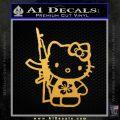 Hello Kitty Hibiscus Gun Decal Sticker Gold Vinyl 120x120