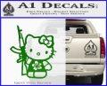 Hello Kitty Hibiscus Gun Decal Sticker Green Vinyl Logo 120x97