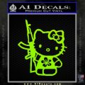 Hello Kitty Hibiscus Gun Decal Sticker Lime Green Vinyl 120x120