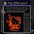 Hello Kitty Hibiscus Gun Decal Sticker Orange Emblem 120x120