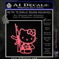 Hello Kitty Hibiscus Gun Decal Sticker Pink Emblem 120x120