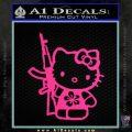 Hello Kitty Hibiscus Gun Decal Sticker Pink Hot Vinyl 120x120