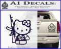 Hello Kitty Hibiscus Gun Decal Sticker PurpleEmblem Logo 120x97