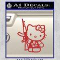 Hello Kitty Hibiscus Gun Decal Sticker Red 120x120