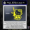 Hello Kitty Hibiscus Gun Decal Sticker Yellow Laptop 120x120