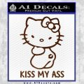 Hello Kitty Kiss My Ass Decal Sticker BROWN Vinyl 120x120