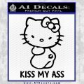 Hello Kitty Kiss My Ass Decal Sticker Black Vinyl 120x120