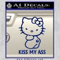 Hello Kitty Kiss My Ass Decal Sticker Blue Vinyl 120x120
