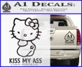 Hello Kitty Kiss My Ass Decal Sticker Carbon FIber Black Vinyl 120x97
