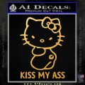 Hello Kitty Kiss My Ass Decal Sticker Gold Vinyl 120x120