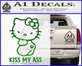Hello Kitty Kiss My Ass Decal Sticker Green Vinyl Logo 120x97