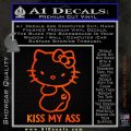 Hello Kitty Kiss My Ass Decal Sticker Orange Emblem 120x120