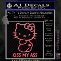 Hello Kitty Kiss My Ass Decal Sticker Pink Emblem 120x120