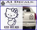 Hello Kitty Kiss My Ass Decal Sticker PurpleEmblem Logo 120x97