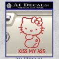 Hello Kitty Kiss My Ass Decal Sticker Red 120x120
