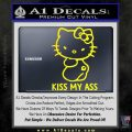 Hello Kitty Kiss My Ass Decal Sticker Yellow Laptop 120x120