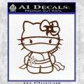 Hello Kitty Ninja Decal Sticker BROWN Vinyl 120x120