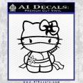 Hello Kitty Ninja Decal Sticker Black Vinyl 120x120