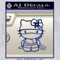 Hello Kitty Ninja Decal Sticker Blue Vinyl 120x120