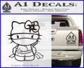 Hello Kitty Ninja Decal Sticker Carbon FIber Black Vinyl 120x97