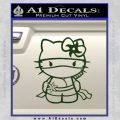 Hello Kitty Ninja Decal Sticker Dark Green Vinyl 120x120